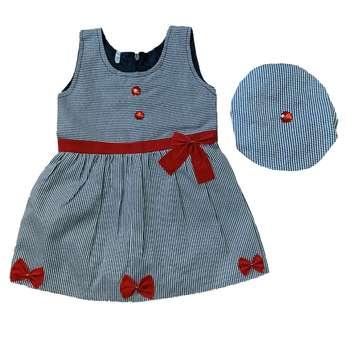 ست پیراهن و کلاه دخترانه مدل A&S7173