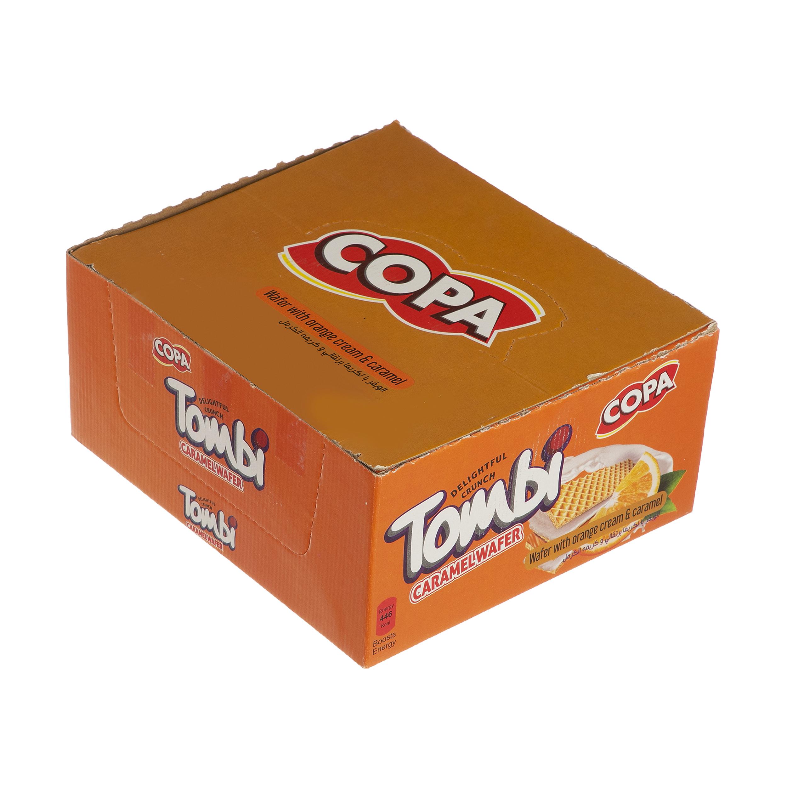 ویفر تامبی کوپا با طعم پرتقال - 18 گرم بسته 30 عددی