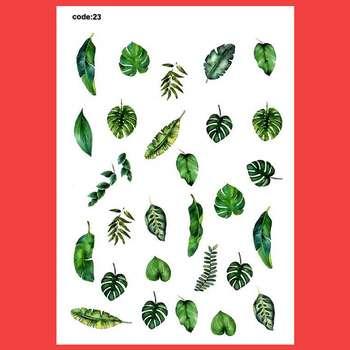 استیکر طراحی ناخن مدل برگ گیاه کد 23