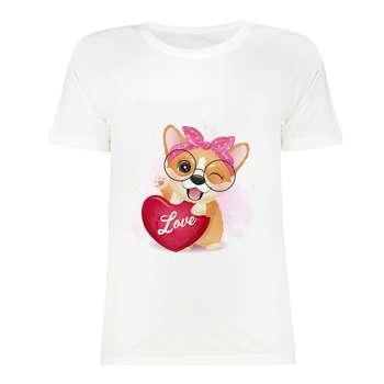 تی شرت آستین کوتاه دخترانه مدل SK991105-015