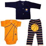ست ۳ تکه لباس نوزادی طرح بسکتبال کد ۵۶۴