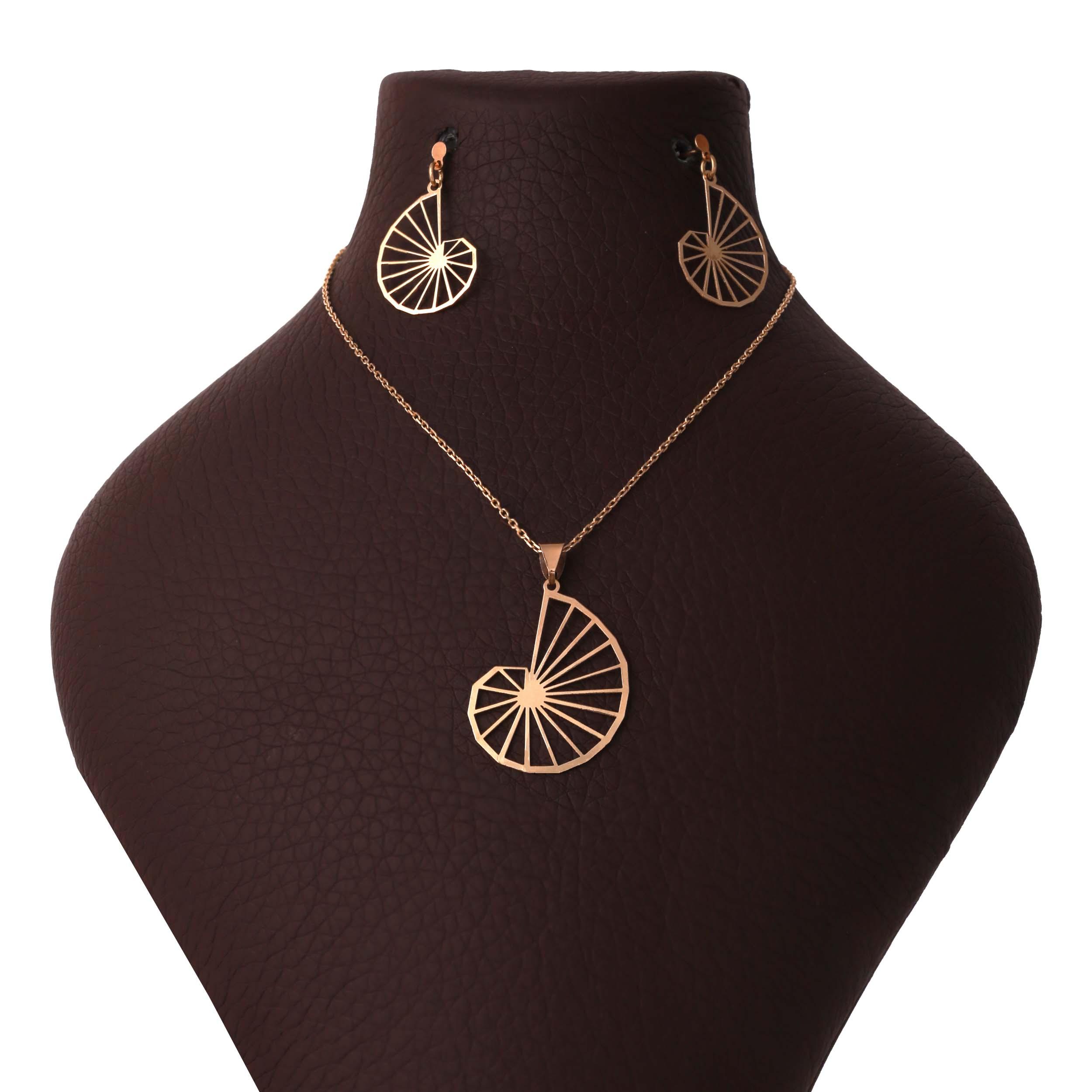 نیم ست طلا 18 عیار زنانه آمانژ طرح اسپیرال کد 1170D9094