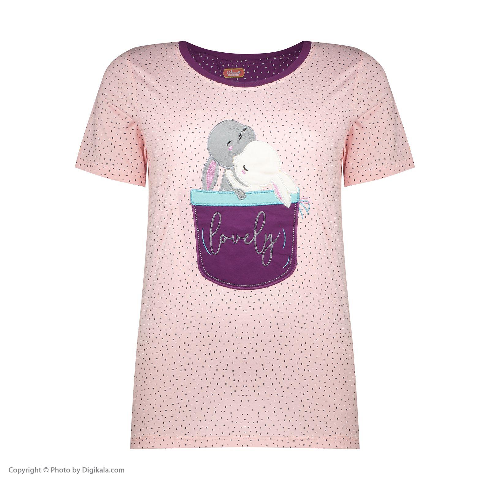 ست تی شرت و شلوارک راحتی زنانه مادر مدل 2041102-84 -  - 4