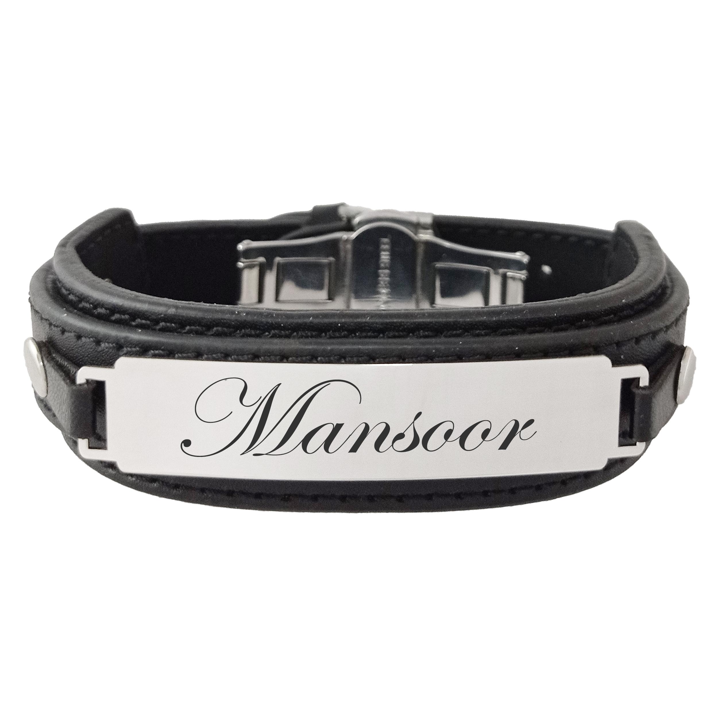 دستبند مردانه ترمه ۱ مدل منصور کد Sam 976
