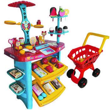 اسباب بازی سوپر مارکت مدل 703 به همراه چرخ خرید