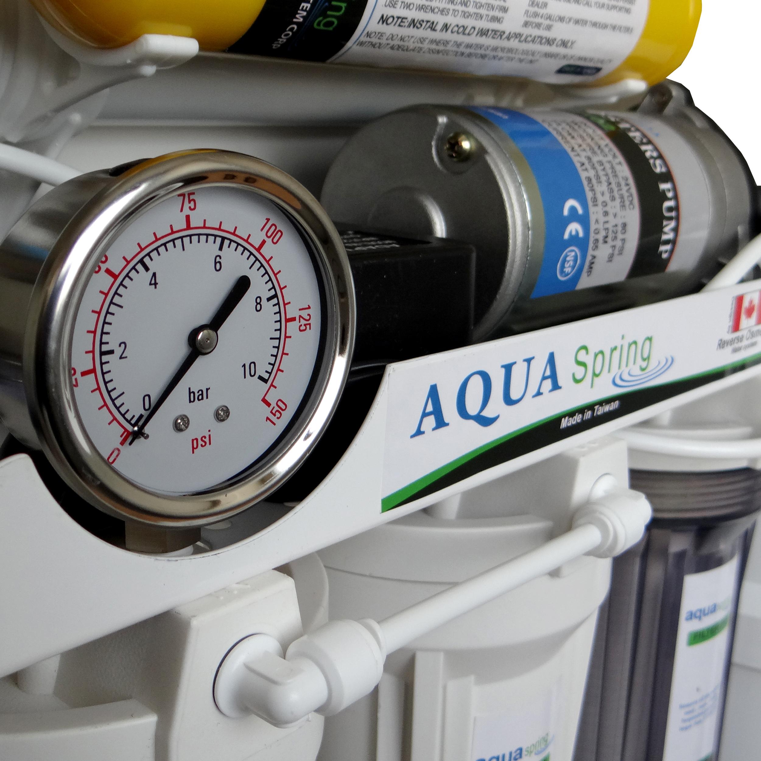 دستگاه  تصفیه کننده آب آکوآ اسپرینگ  مدل RO - NF2600 به همراه فیلتر مجموعه 3 عددی