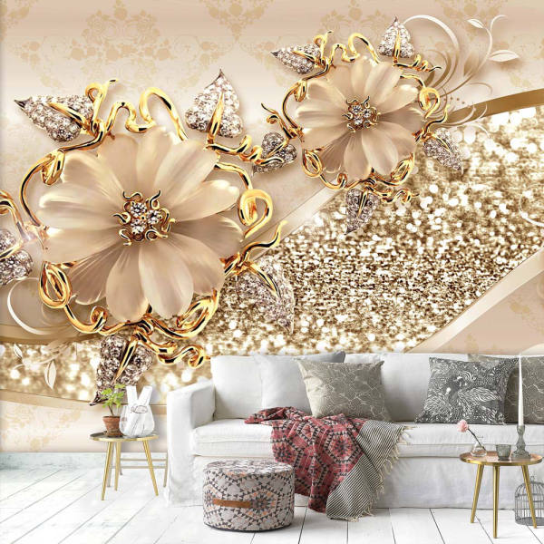 کاغذدیواری مدل گل