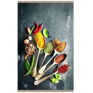 فرش پارچه ای مدل ترمزدار طرح آشپزخانه کد 2