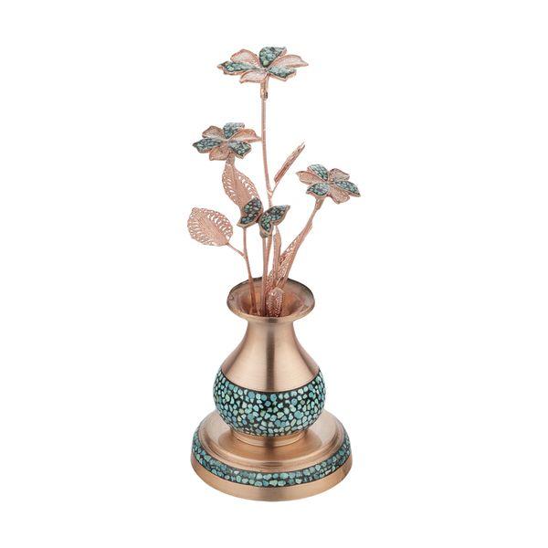 ست گل و گلدان فیروزه کوبی کد 1