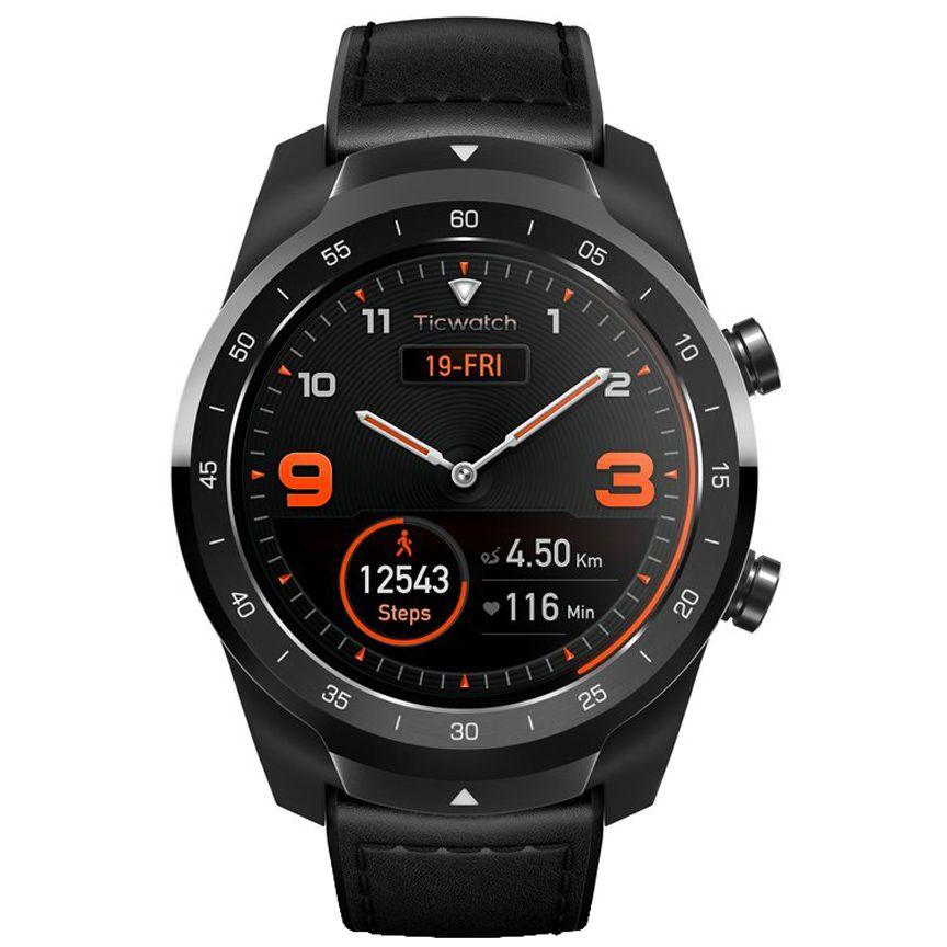 ساعت هوشمند موبووی مدل ticwatch کد PRO 2020 SHADOW BK