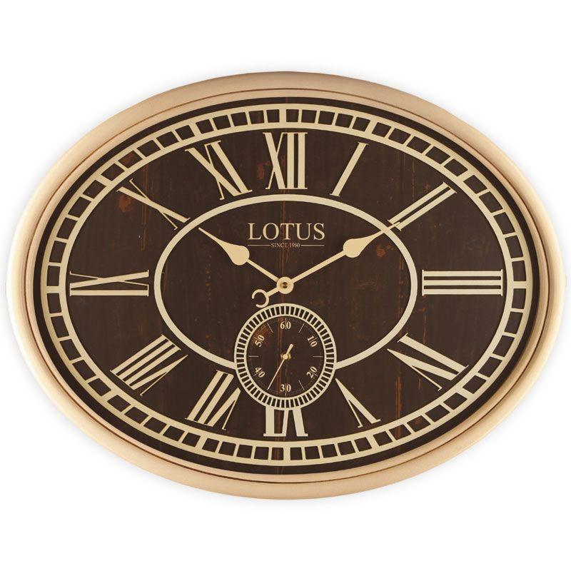 ساعت دیواری چوبی لوتوس مدل میلتون w-483