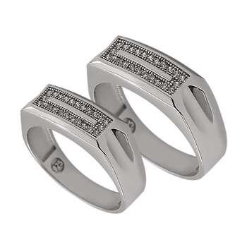 ست انگشتر نقره زنانه و مردانه مدل k10sl98