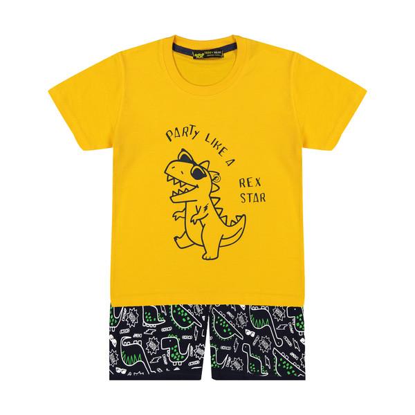ست تی شرت و شلوارک بچگانه خرس کوچولو مدل 2011200-16