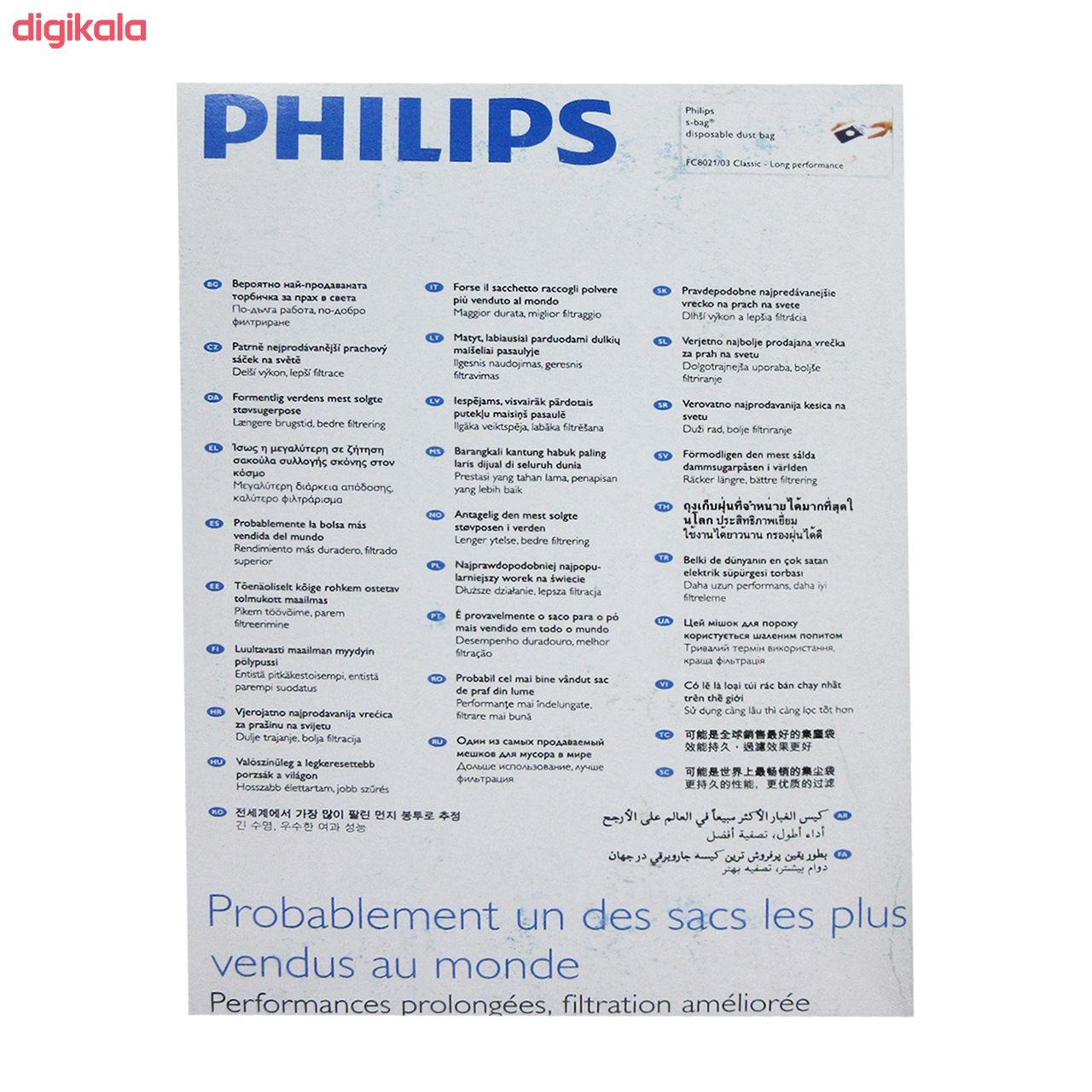 کیسه جارو برقی کد01 بسته 4 عددی مناسب برای جاروبرقی فیلیپس      main 1 2