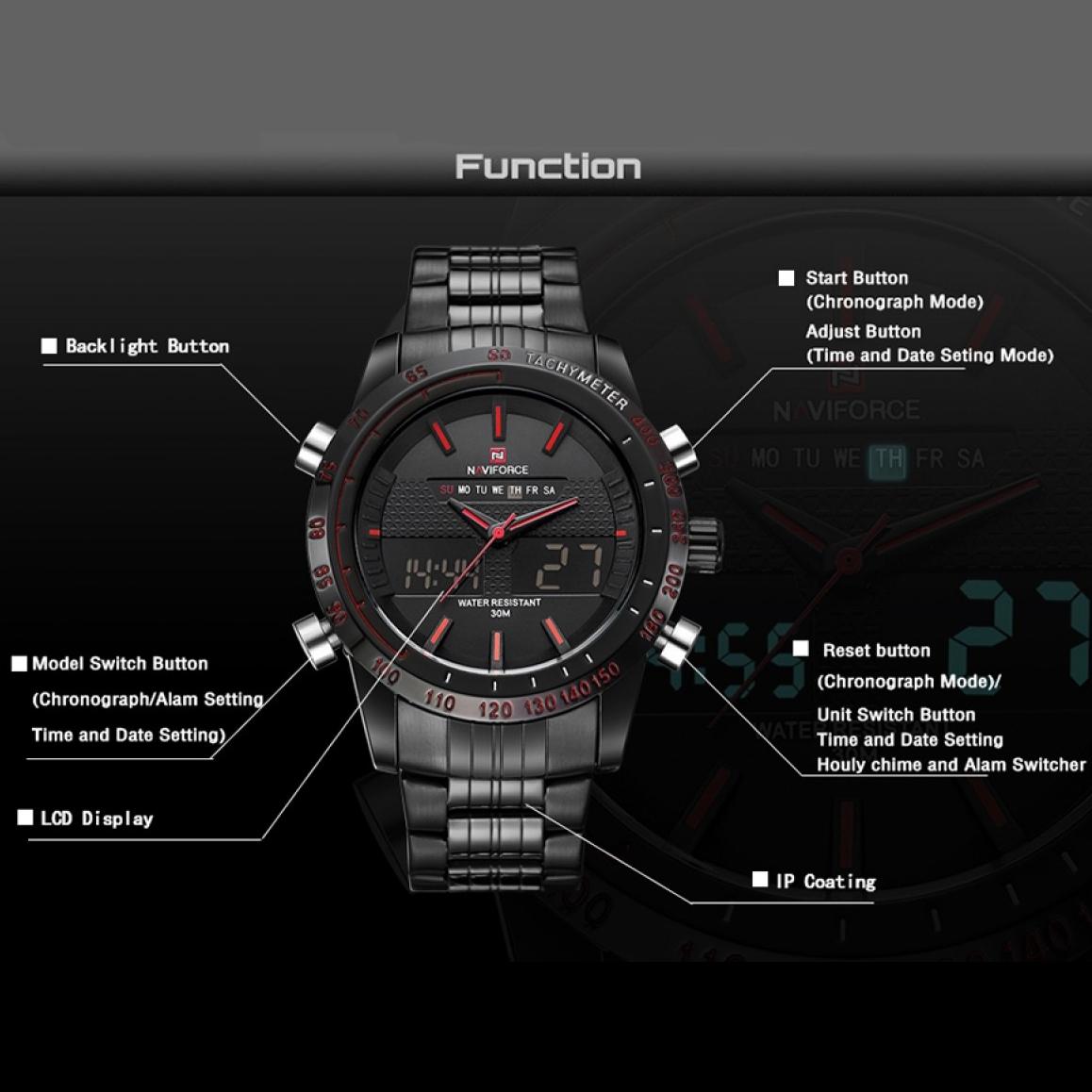 خرید                                     ساعت مچی دیجیتال مردانه نیوی فورس مدل NF9024M - ME-G