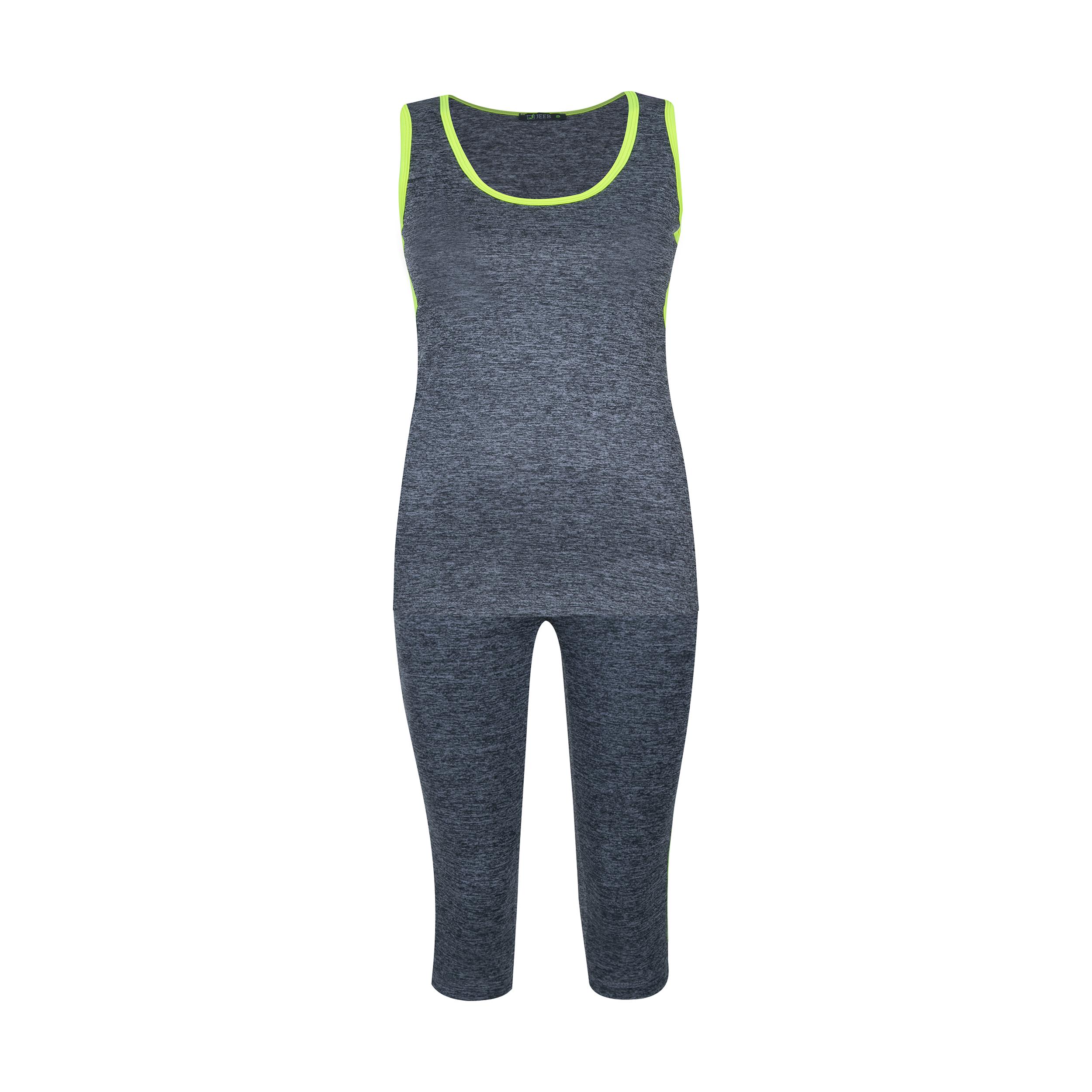 ست تاپ و شلوارک ورزشی زنانه کد moline-tu-fos 001