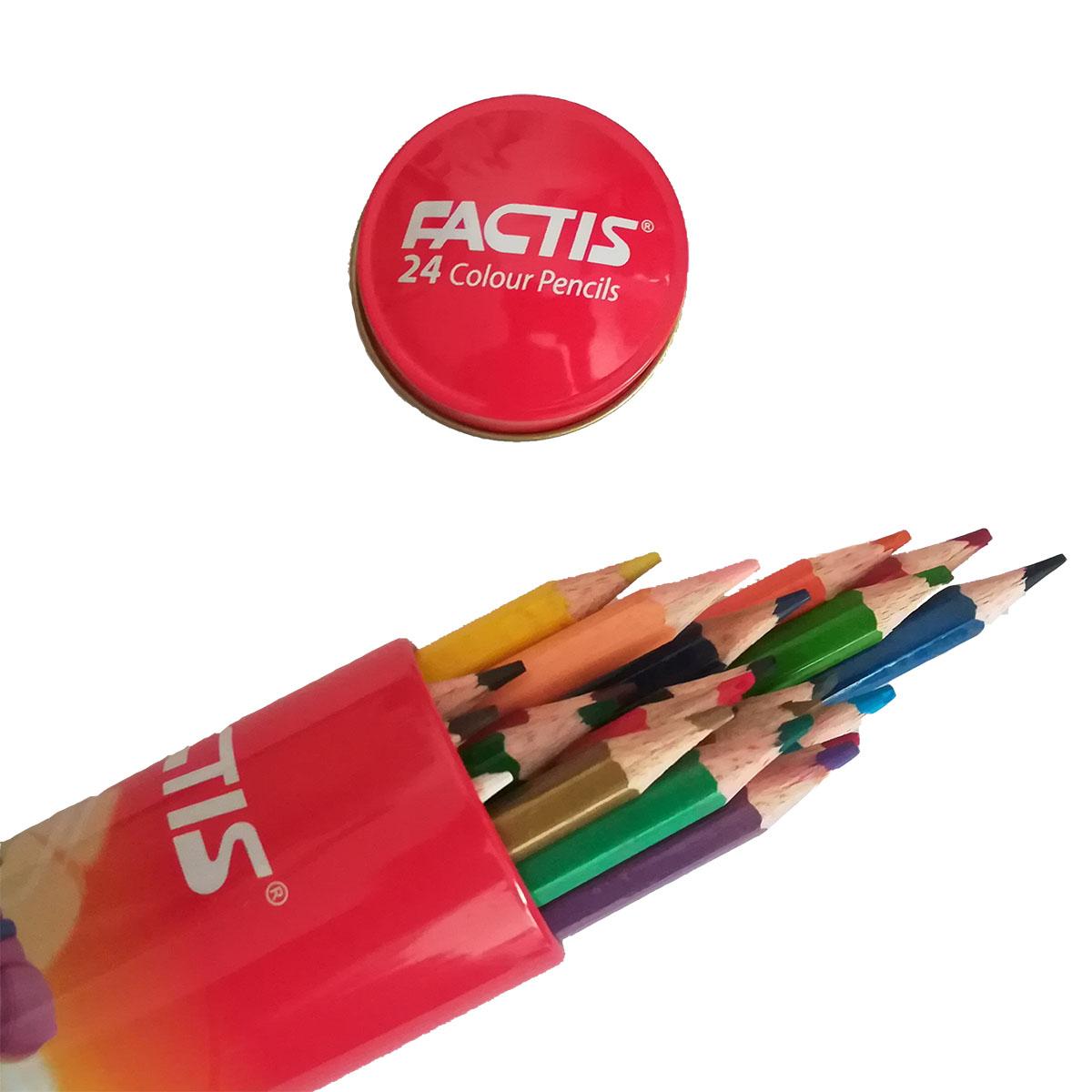 مداد رنگی 24 رنگ فکتیس مدل استوانه ای main 1 1