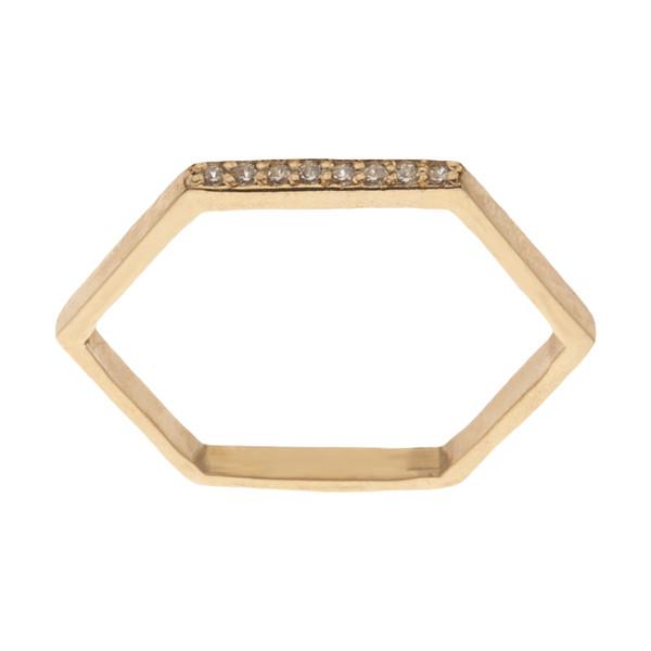 انگشتر طلا 18 عیار زنانه سنجاق مدل X058971