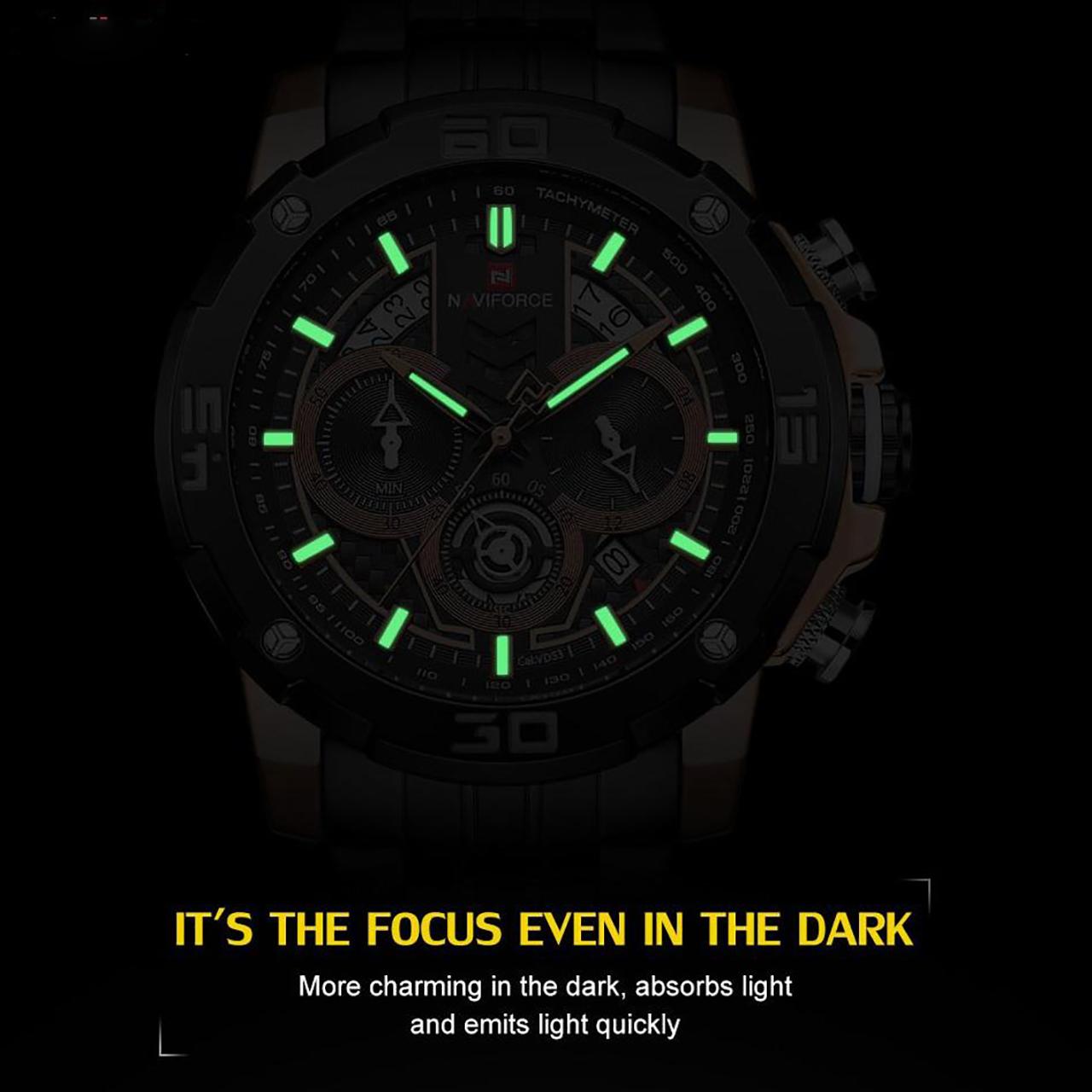 ساعت مچیعقربه ای مردانه نیوی فورس مدل NF9175-RG