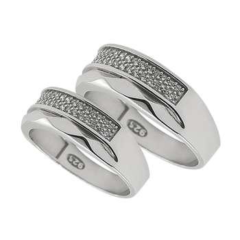 ست انگشتر نقره زنانه و مردانه مدل hio4099