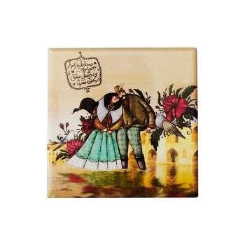 کاشی طرح عشق و گل و بلبل کد 122