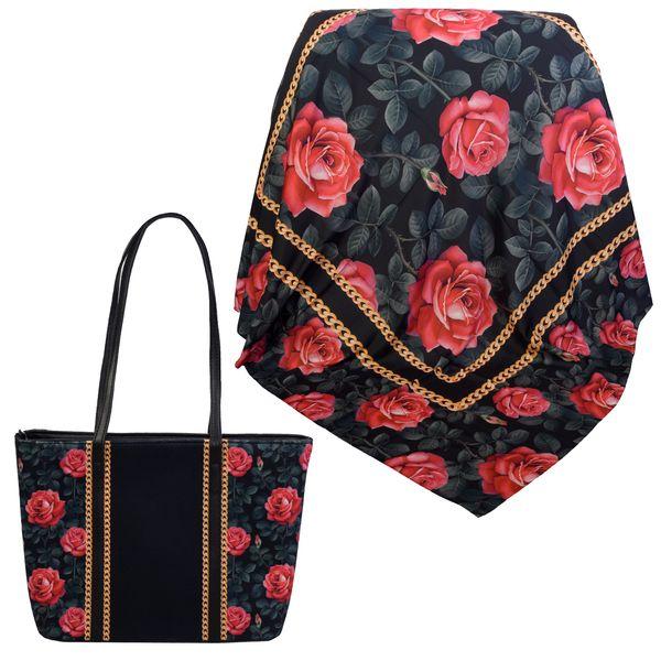 ست کیف و روسری زنانه کد 981017-T1