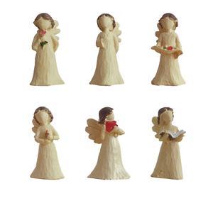مجسمه طرح فرشته مدل 01 مجموعه 6 عددی