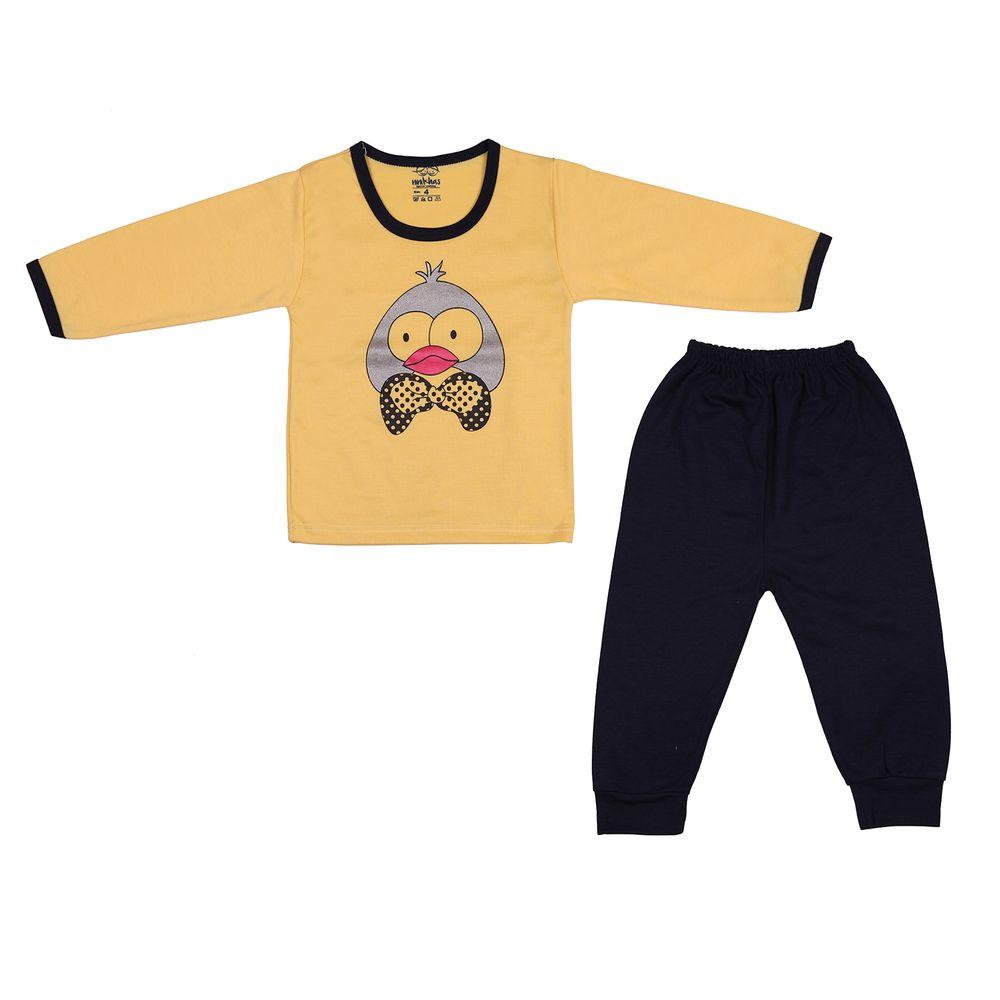 ست تی شرت و شلوار نوزادی  کد 501