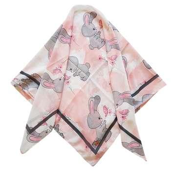 روسری دخترانه ترمه مدل خرگوش و پروانه کد san924