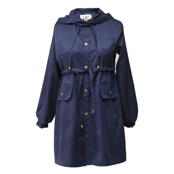 بارانی زنانه درس ایگو کد 10700019 رنگ سرمه ای