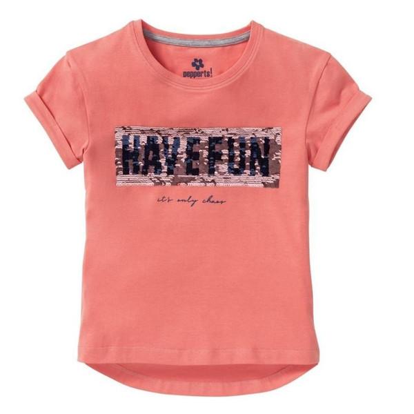 تی شرت آستین کوتاه دخترانه پیپرتس مدل GT01