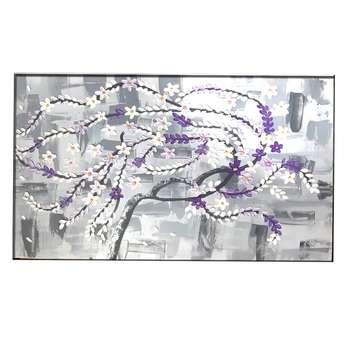 تابلوی نقاشی میکس مدیا طرح بهار  کد smi1400