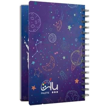 دفتر برنامه ریزی 80 برگ پالت طرح کهکشانی کد 0211