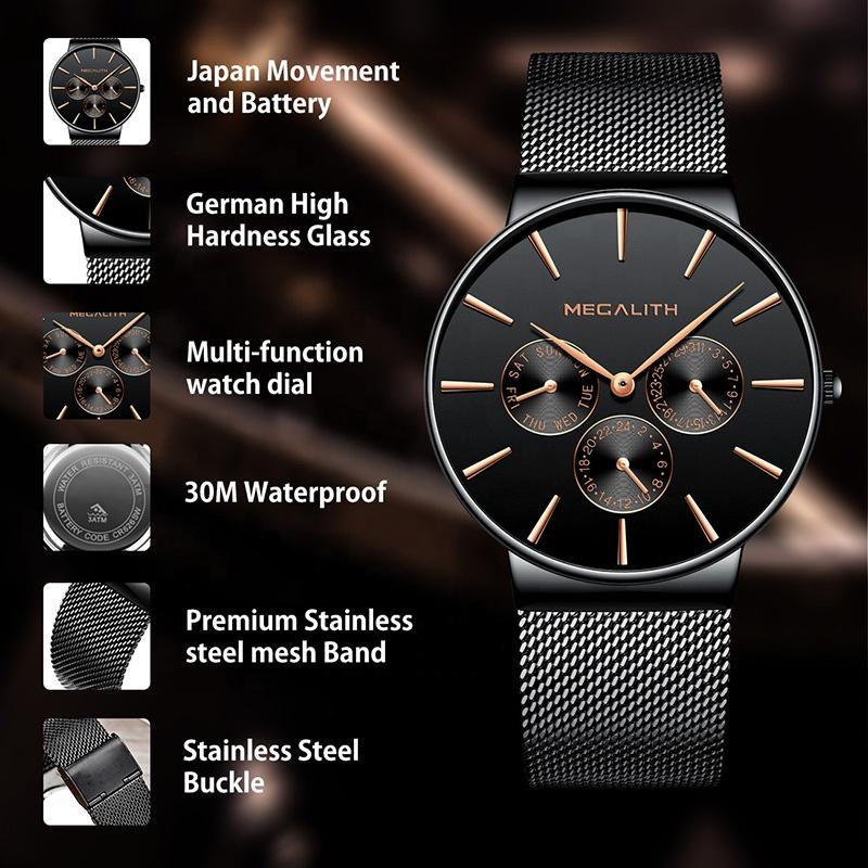ساعت مچی عقربه ای مردانه مگالیت مدل 0047-bla              خرید (⭐️⭐️⭐️)