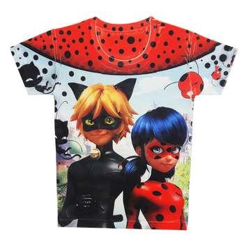 تی شرت دخترانه طرح دختر کفشدوزکی کد A120
