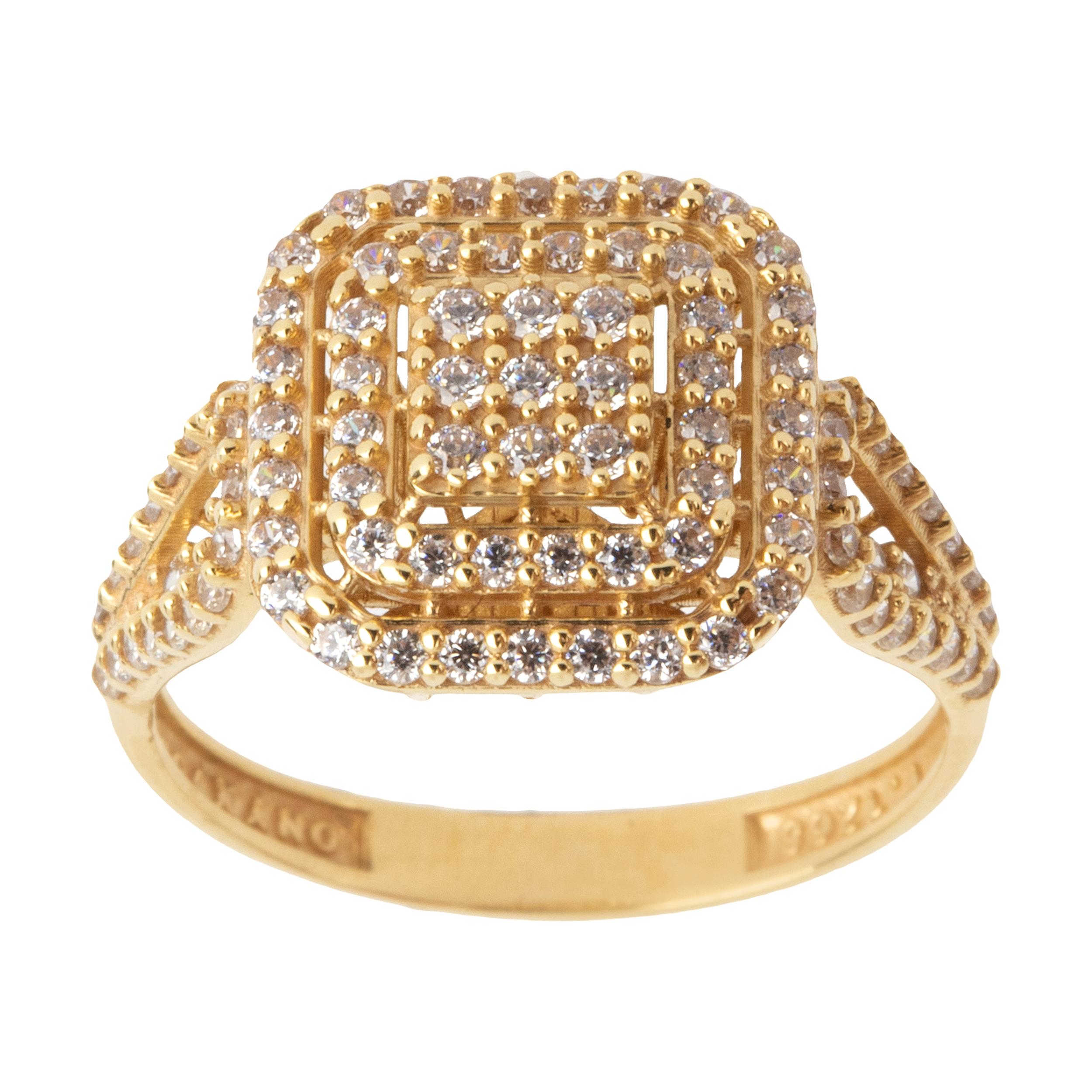 انگشتر طلا 18 عیار زنانه مایا ماهک مدل MR0361