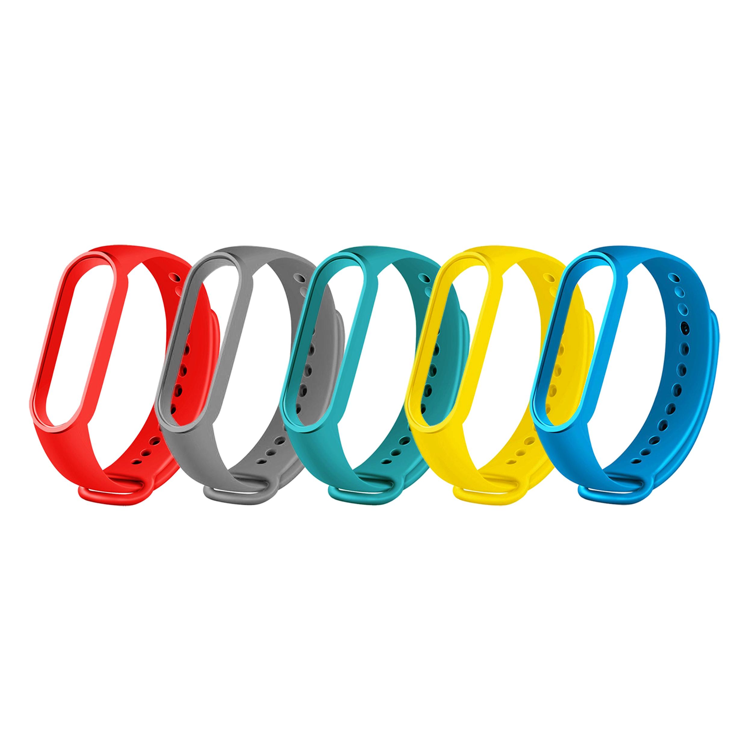 بند سومگ مدل SMG-SiLi مناسب برای مچ بند هوشمند شیائومی Mi Band 5  مجموعه 5 عددی