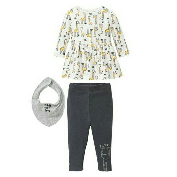 ست 3 تکه لباس نوزادی دخترانه لوپیلو کد Y14 -  - 2