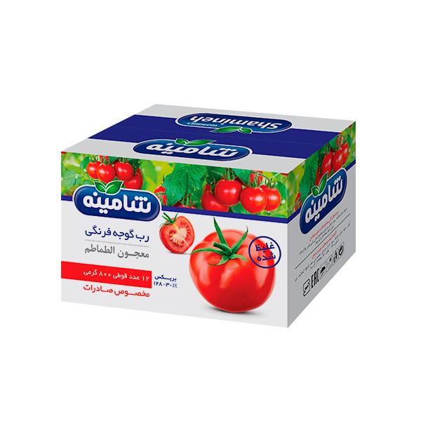 رب گوجه فرنگی غليظ شده شامينه - ۸۰۰ گرم بسته ١٢ عددی