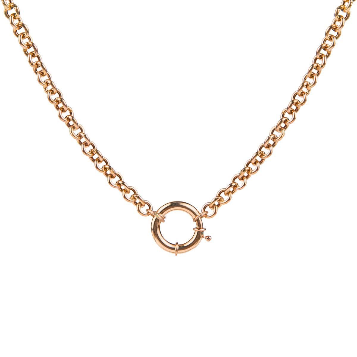 زنجیر طلا 18 عیار زنانه ریسه گالری مدل 5115