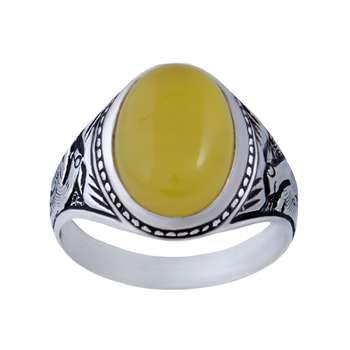 انگشتر نقره مردانه بازرگانی میلادی کد  AM_085