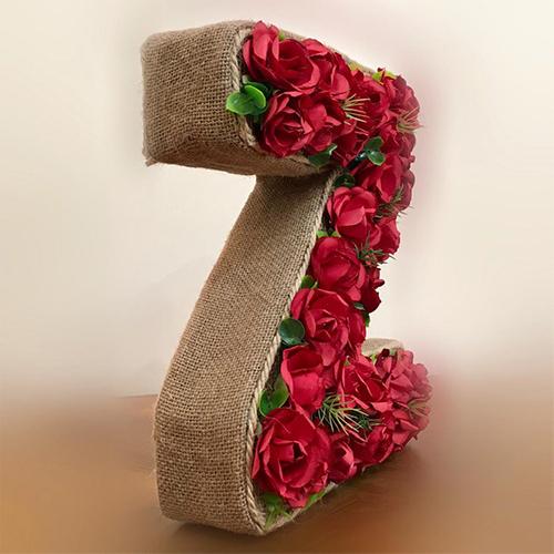 استند گل مصنوعی طرح حرف Z کدN 253