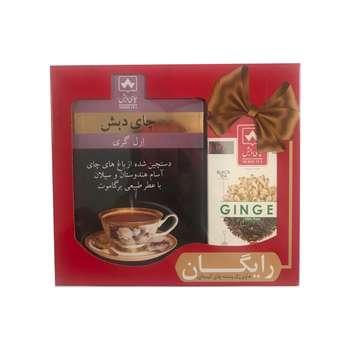 چای ارل گری چای دبش - 500 گرمی و چای کیسه ای سیاه زنجبیلی دبش بسته 25 عددی