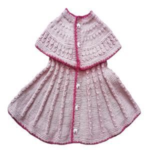 پیراهن بافت نوزادی دخترانه مدل نانا کد 001
