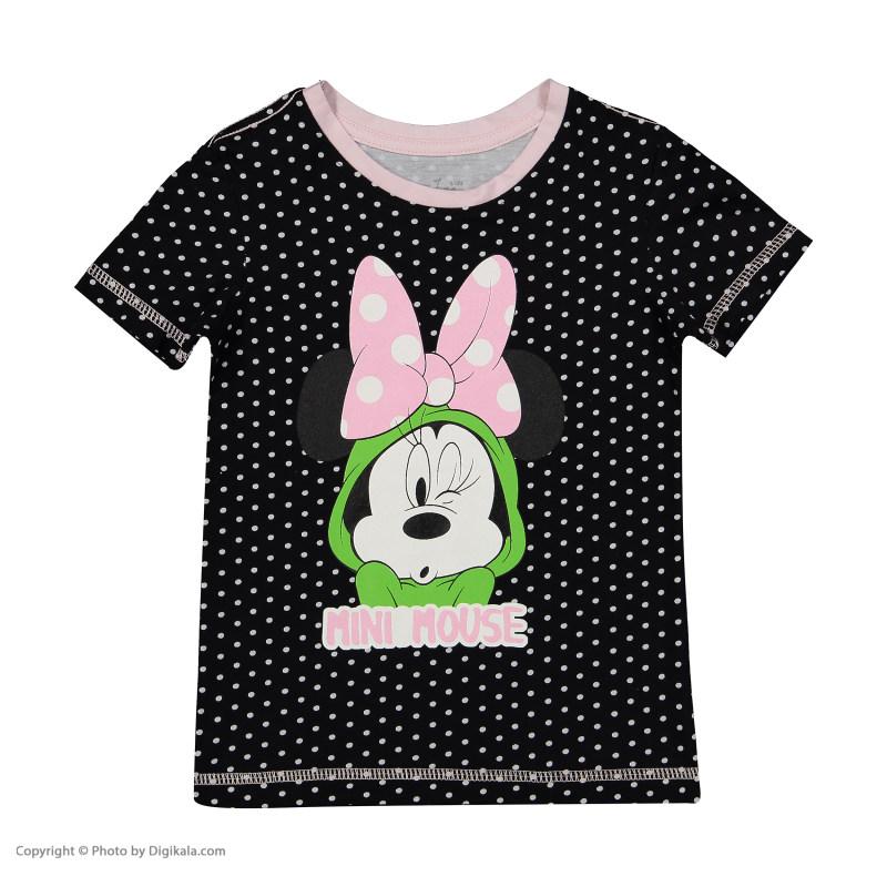 ست تی شرت و شلوار راحتی دخترانه ناربن مدل 1521216-9901