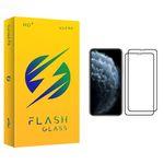 محافظ صفحه نمایش فلش مدل +HD مناسب برای گوشی موبایل اپل iPhone 11 Pro بسته دو عددی
