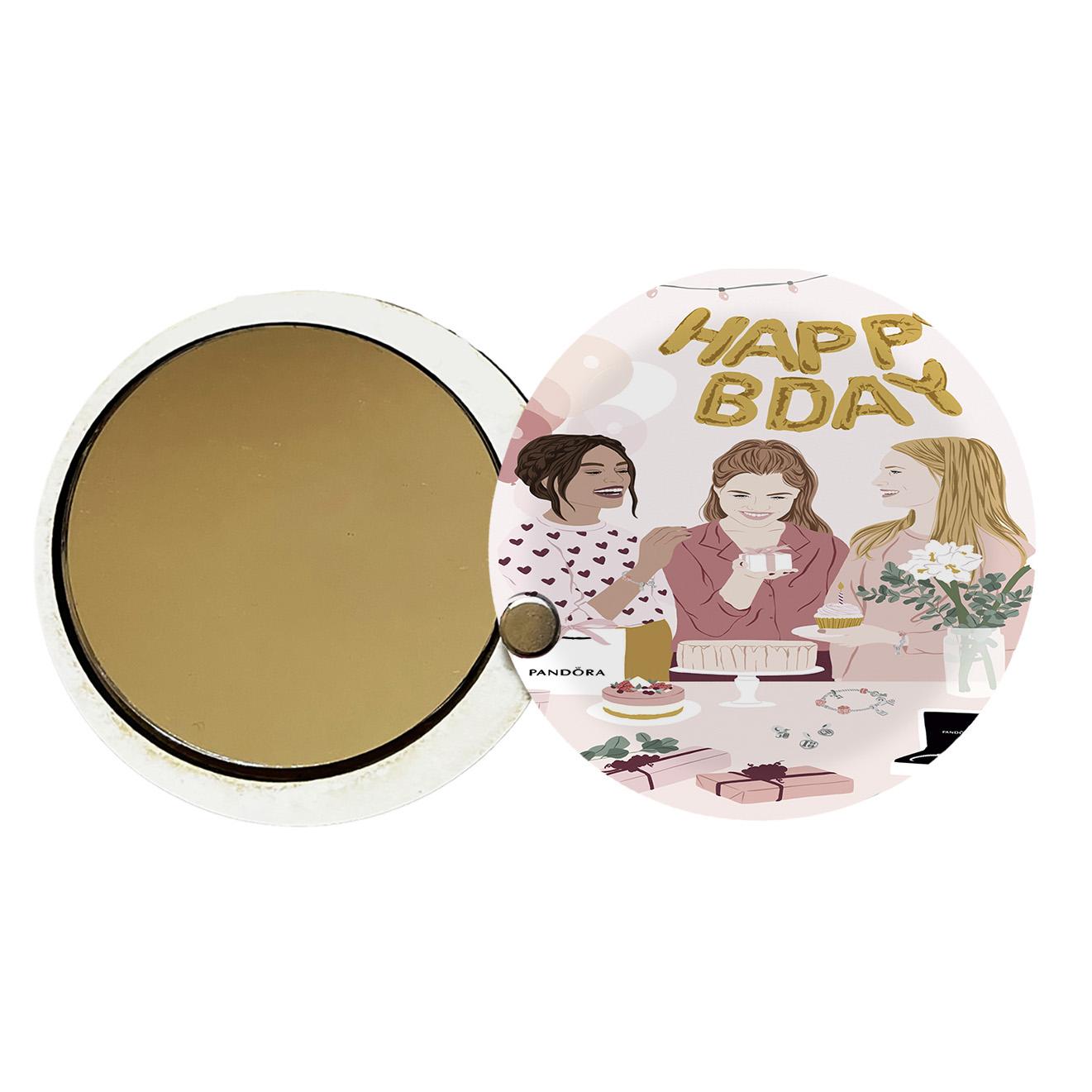 آینه جیبی طرح دخترانه کد ay61