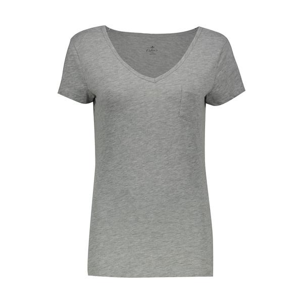 تی شرت زنانه کالینز مدل CL1014619-GREYMELANGE