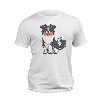 تیشرت آستین کوتاه مردانه مدل سگ مهربان کد 188