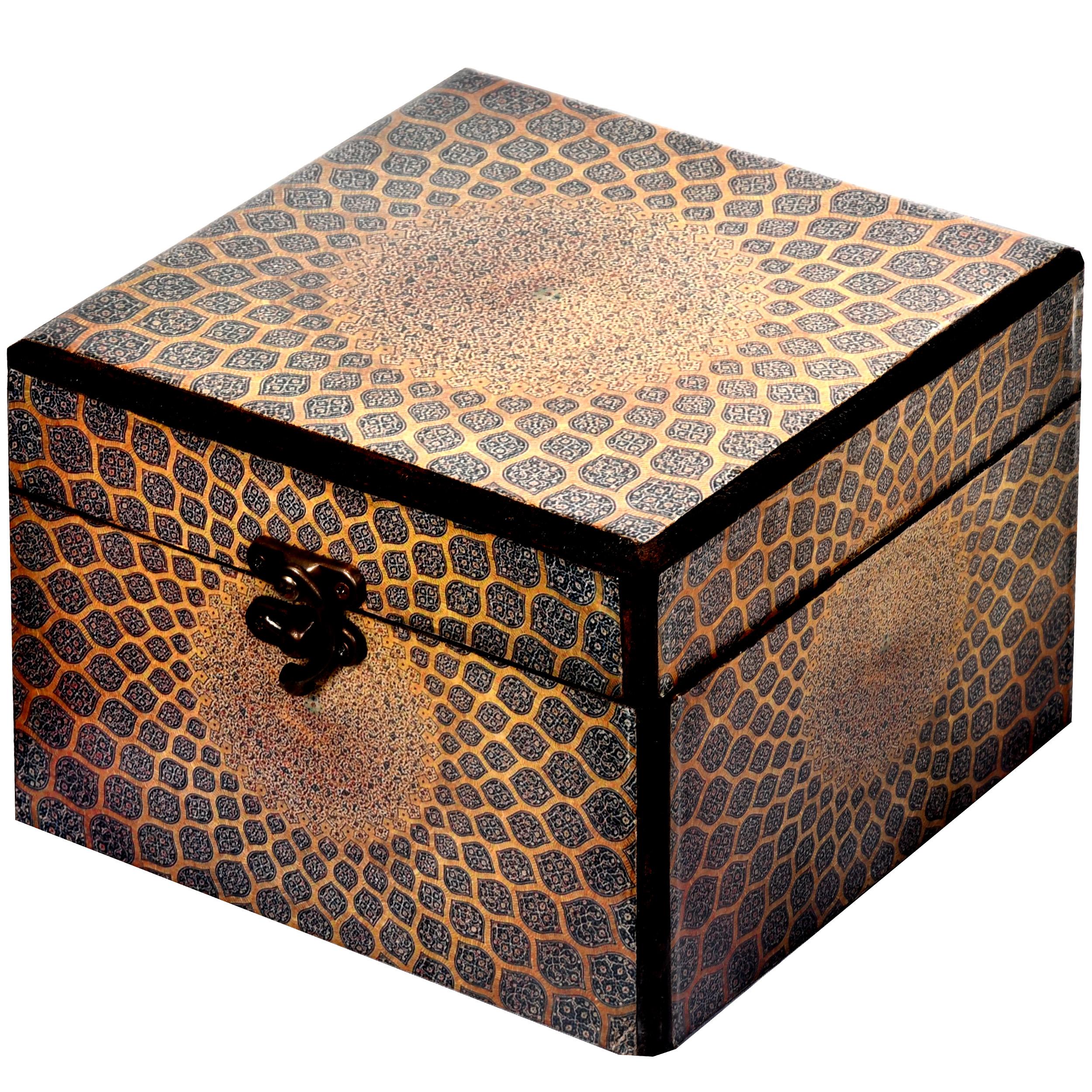 خرید                      جعبه هدیه چوبی طرح گنبد کد 01